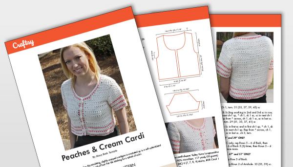 Peaches and Cream Cardi Pattern Titlecard