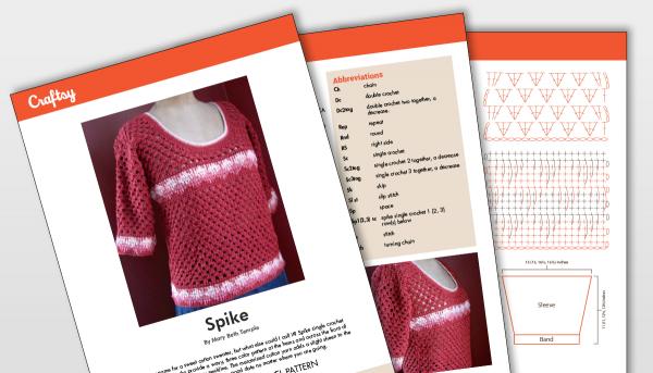 Spike crochet top patter titlecard
