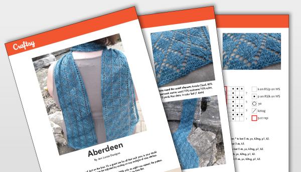Aberdeen shawl pattern titlecard
