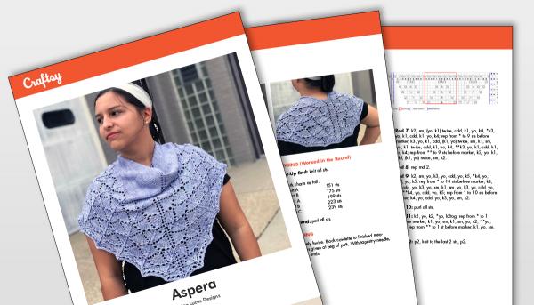 Aspera Shawl Pattern Titlecard
