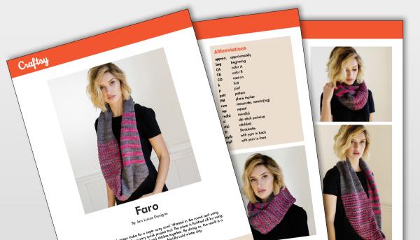 Faro Scarf Pattern Titlecard
