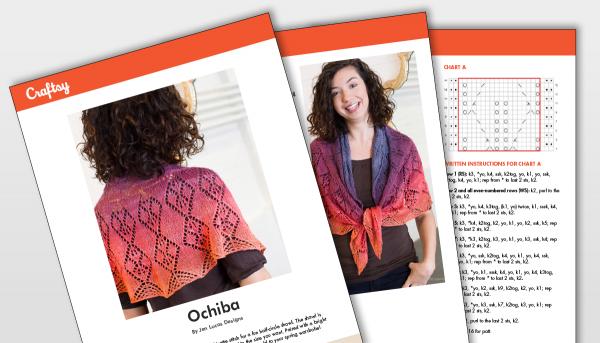 Ochiba Shawl Pattern Titlecard