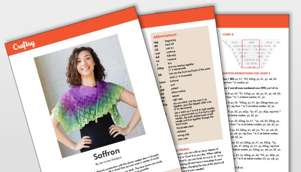 Saffron Scarf Pattern Titlecard