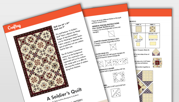 A Soldier's Quilt Pattern Title Card