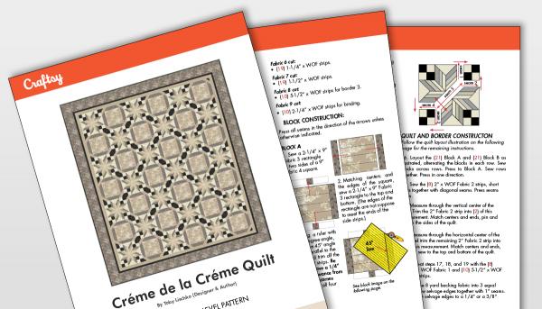 Creme de la Creme Quilt Pattern Titlecard