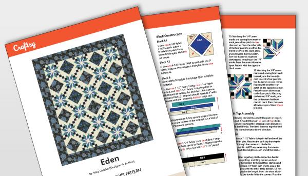 Eden Quilt Pattern Titlecard