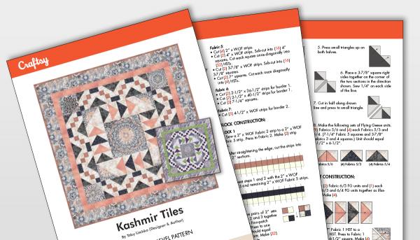 Kashmir Tiles Quilt Pattern Titlecard