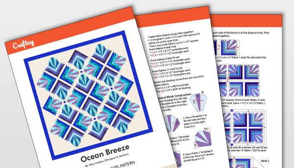 Ocean Breeze Quilt Pattern Title Card