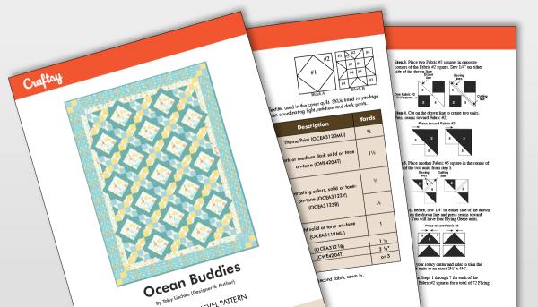 Ocean Buddies Quilt Pattern Titlecard