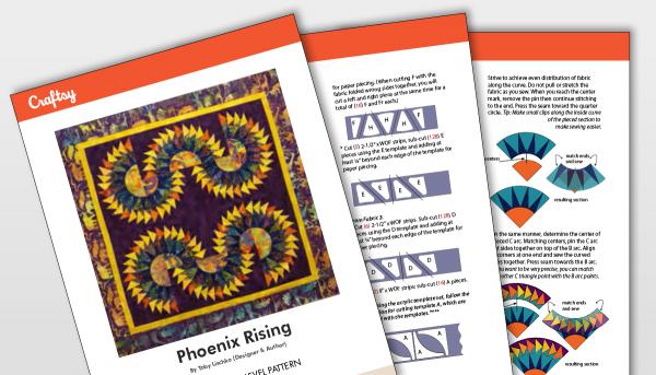 Phoenix Rising Quilt Pattern Titlecard