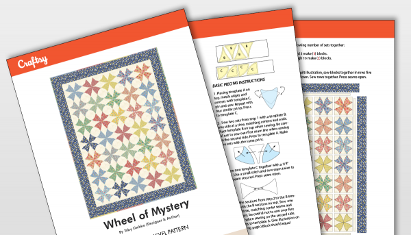 Wheel of Mystery Quilt Pattern Titlecard