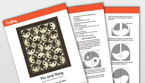 Ying and Yang Quilt Pattern Titlecard