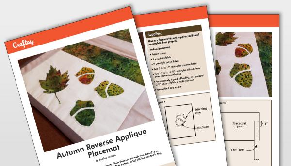 Autumn Reverse Applique Placemat Titlecard