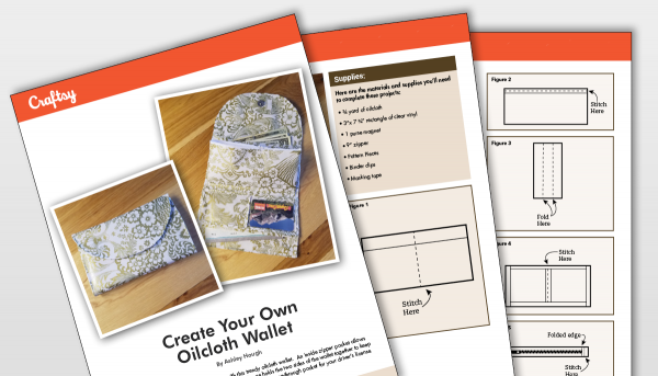 Create your own oilcloth wallet titlecard