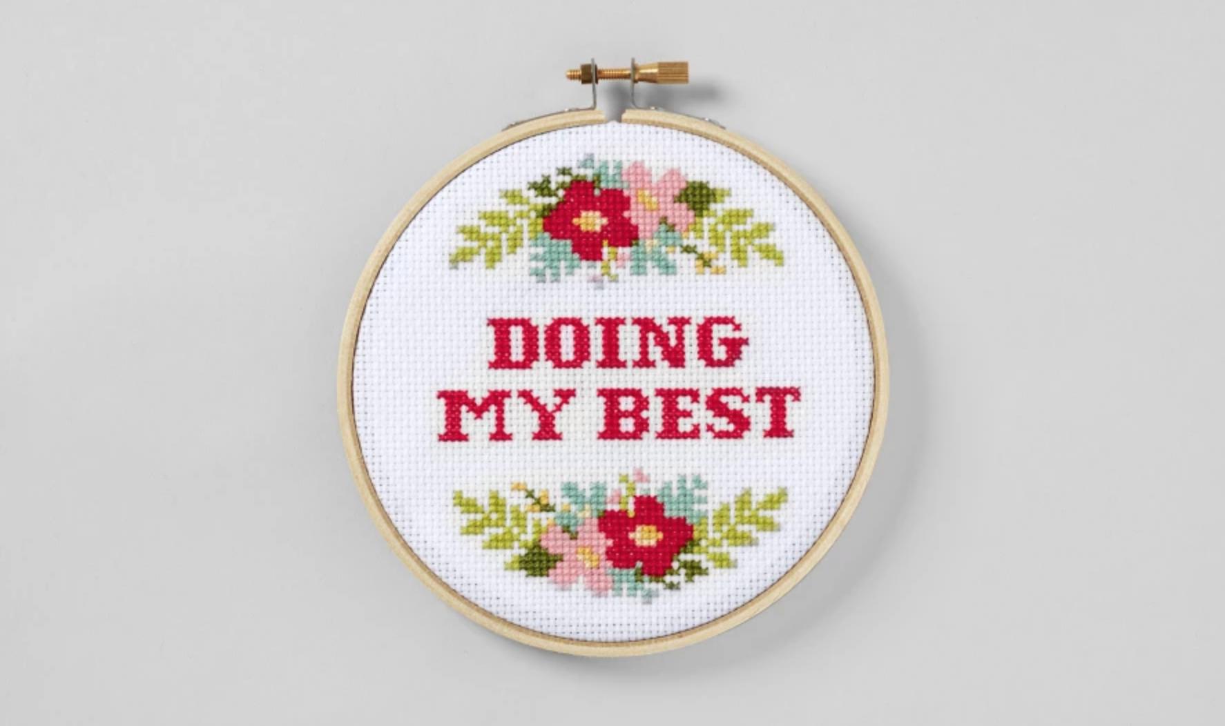 doing my best cross stitch