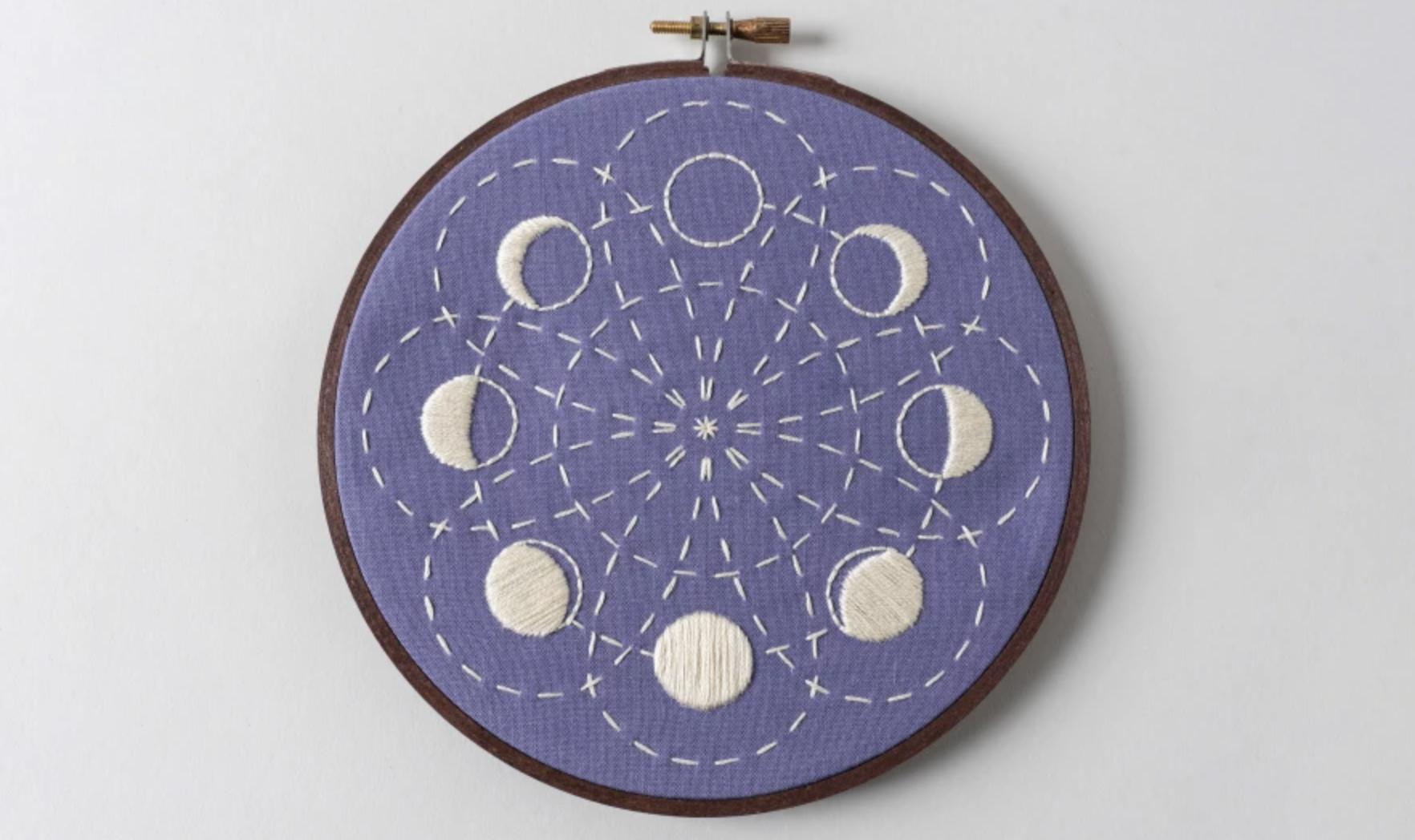 lunar blossom embroidery kit