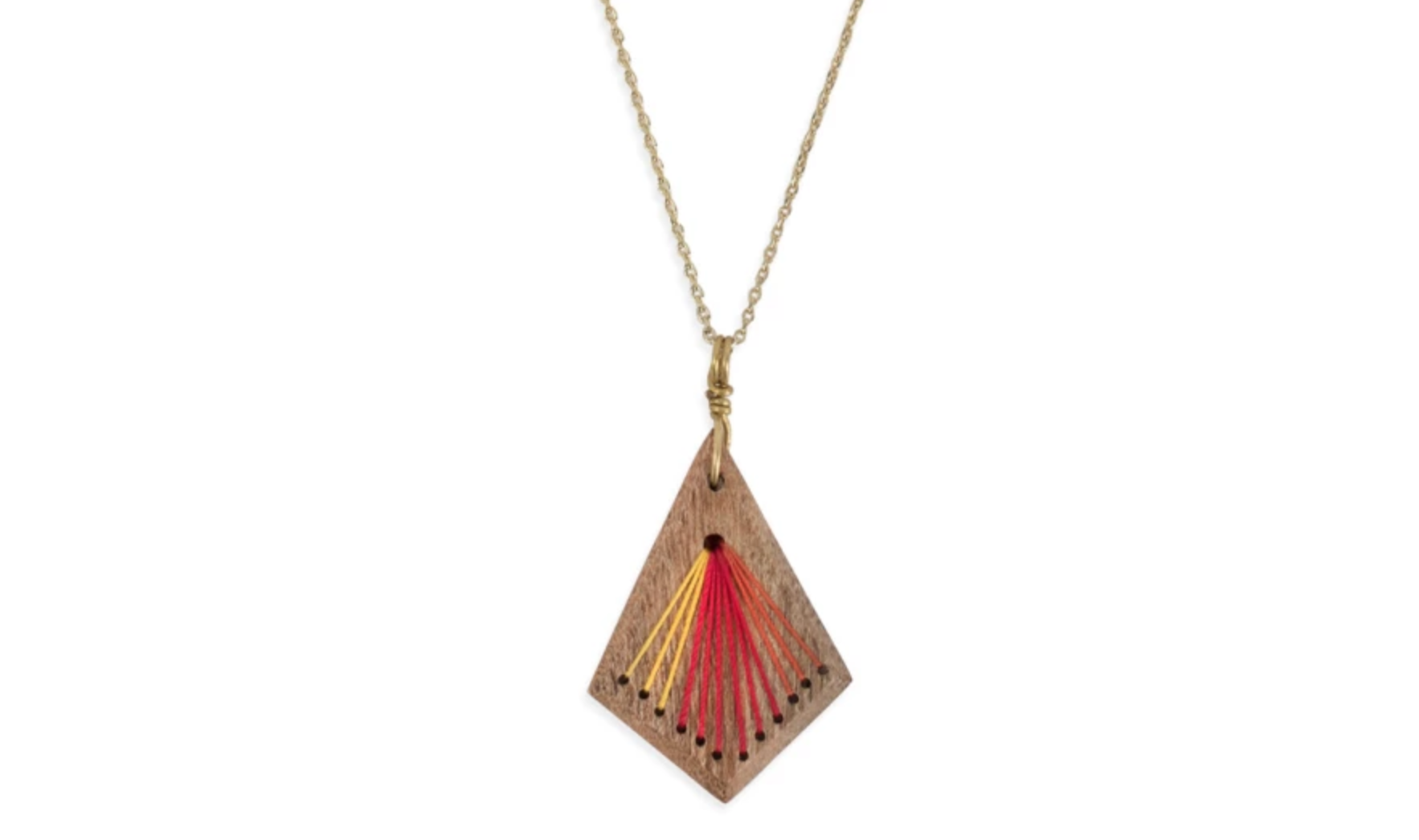 wood and thread necklace