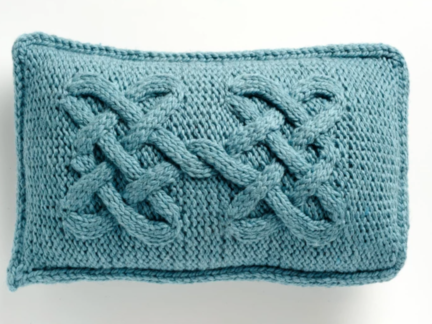knit cabled pillow