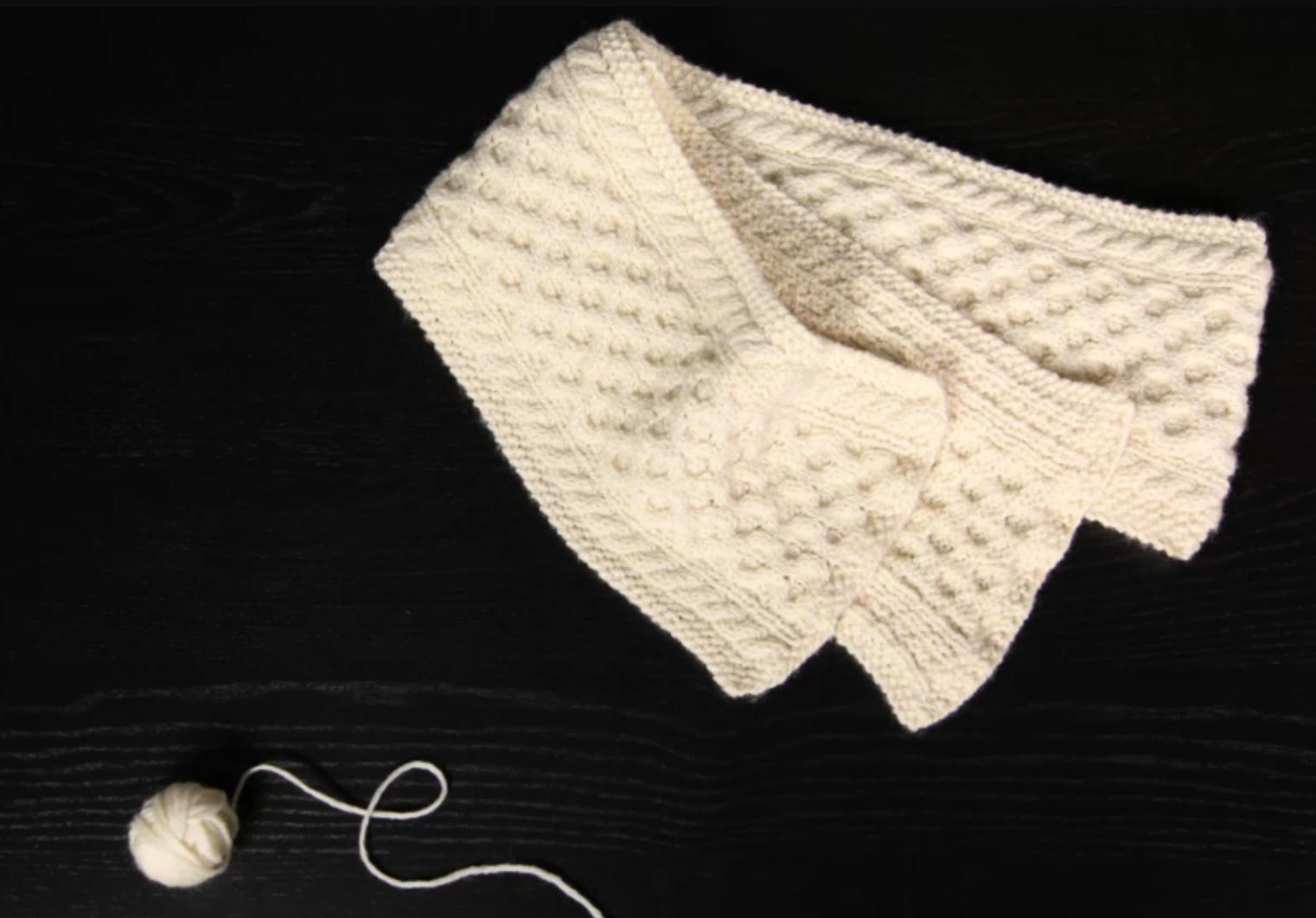 honeycomb knit cowl