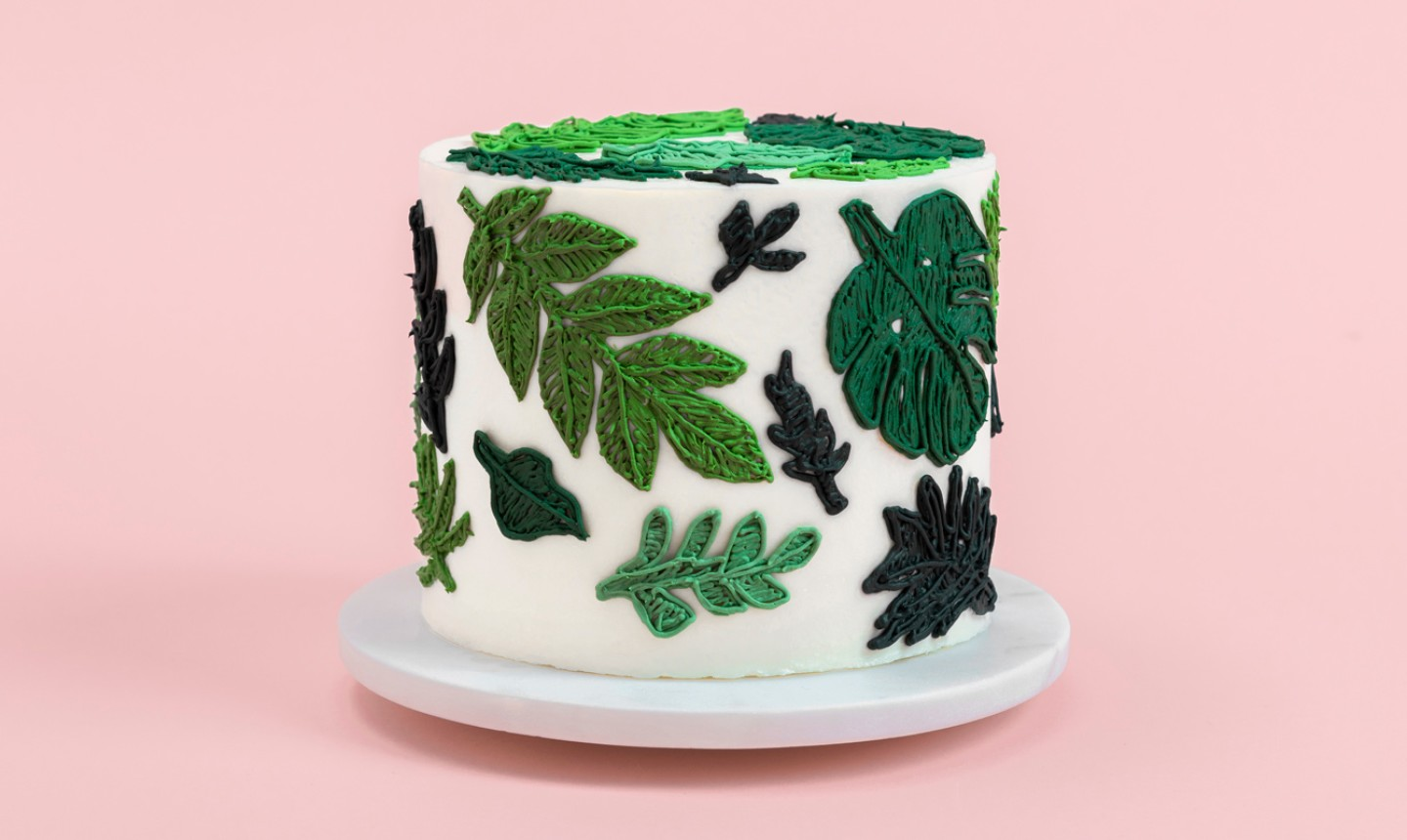 embroidery plant cake