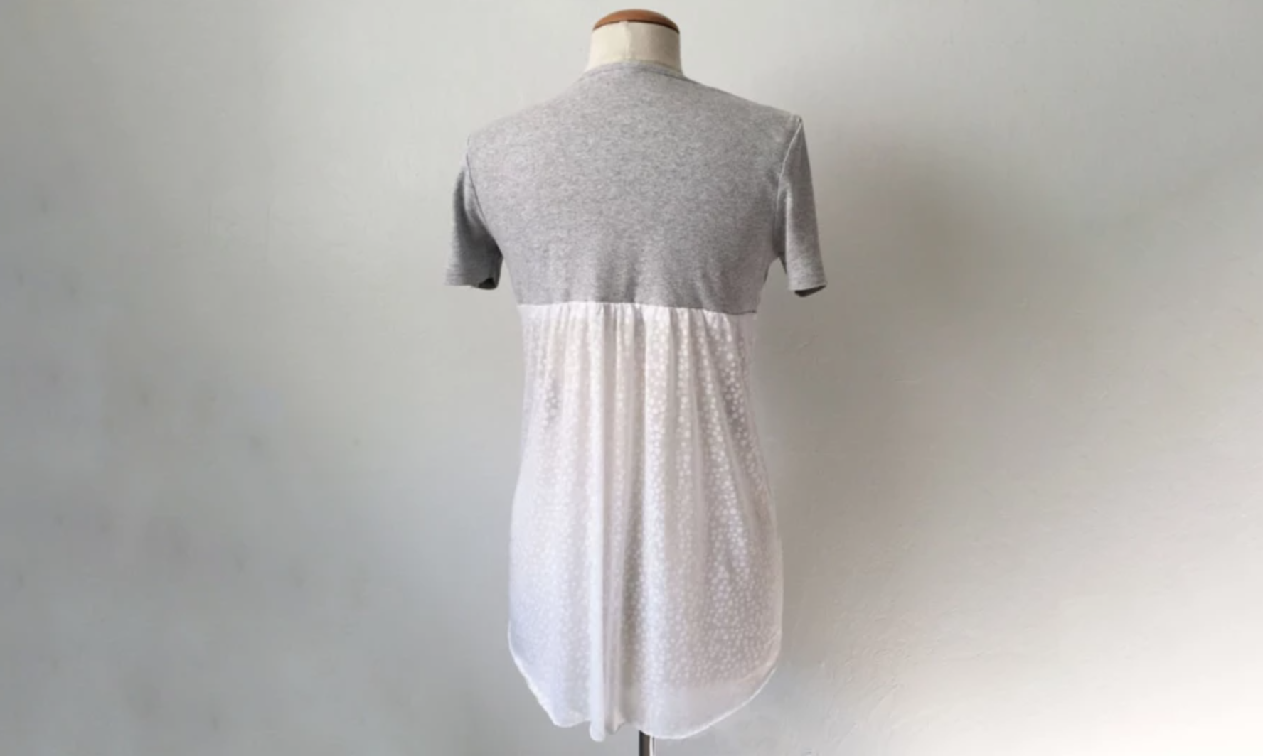 t-shirt with sheer panel