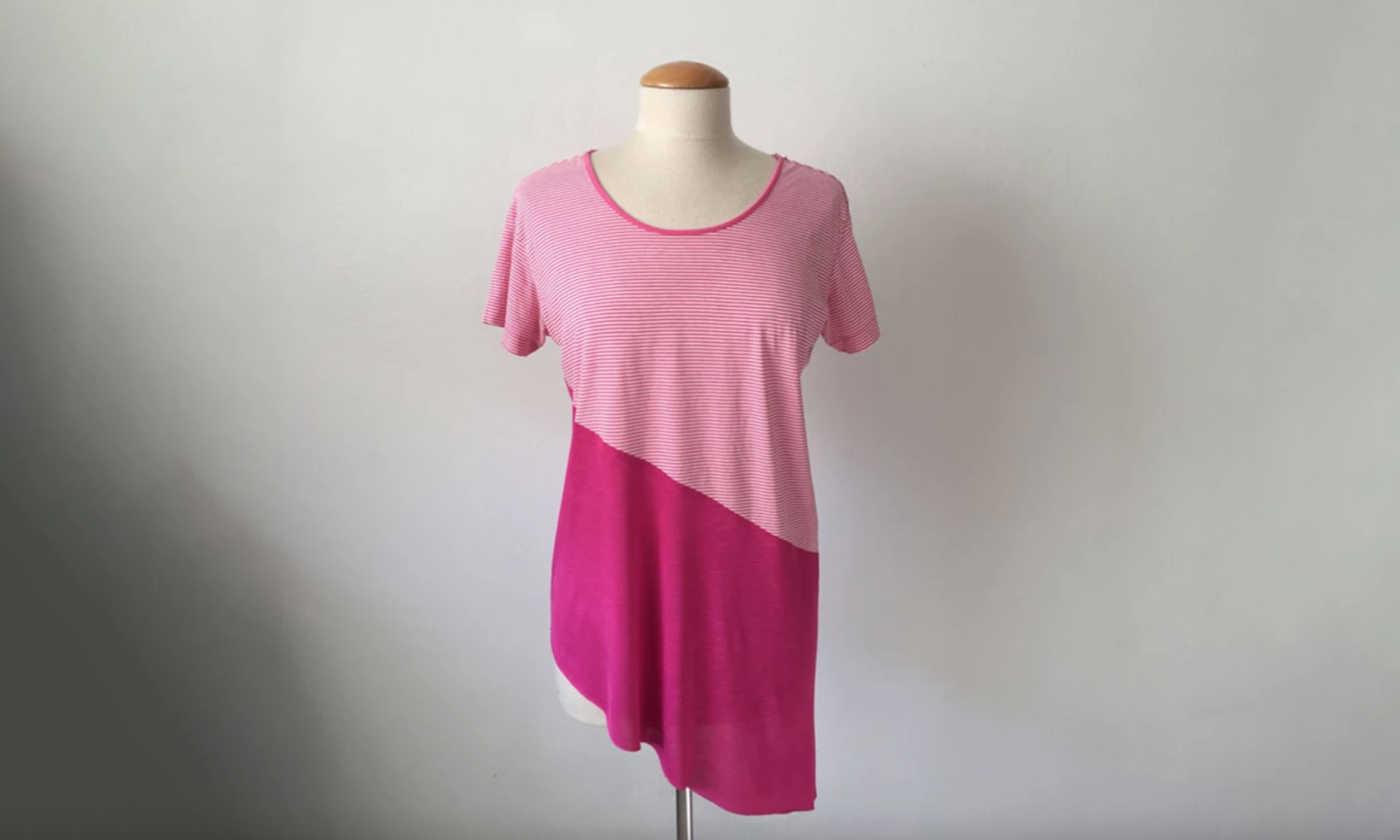 upcycled colorblock t-shirt