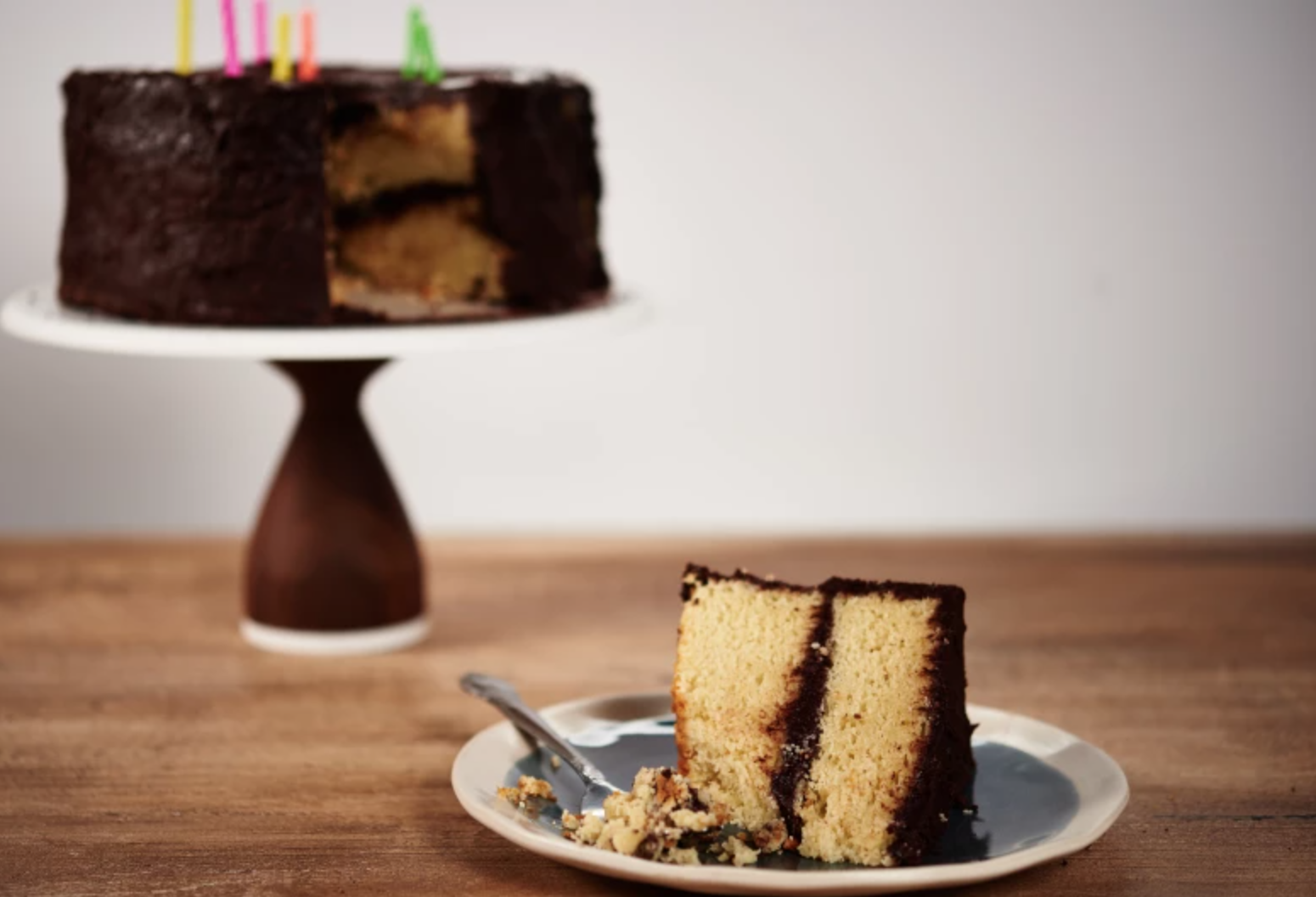 gluten-free layered birthday cake