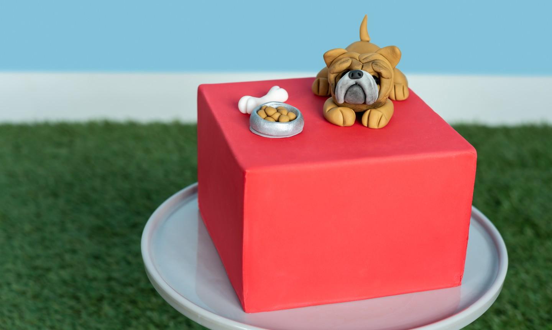 fondant dog cake topper