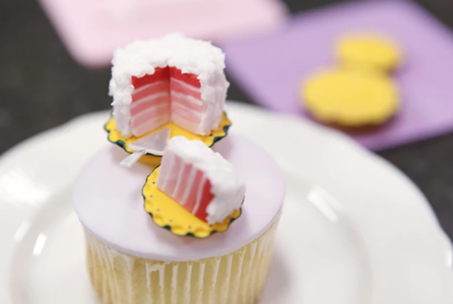 ombre cake fondant topper