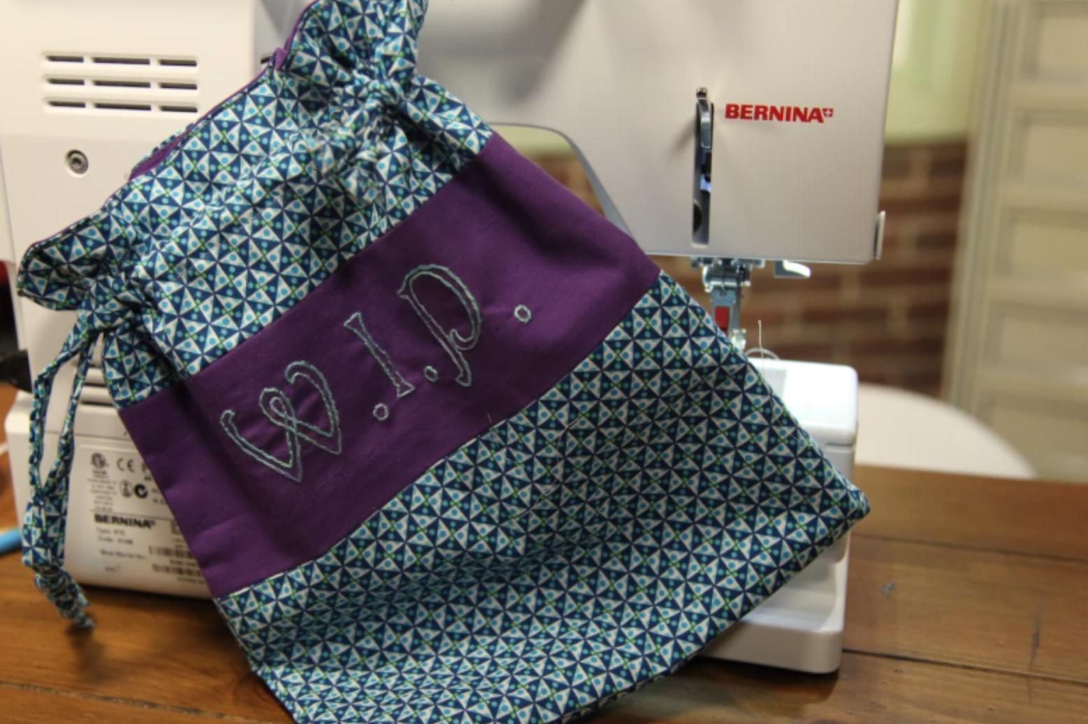 WIP drawstring bag