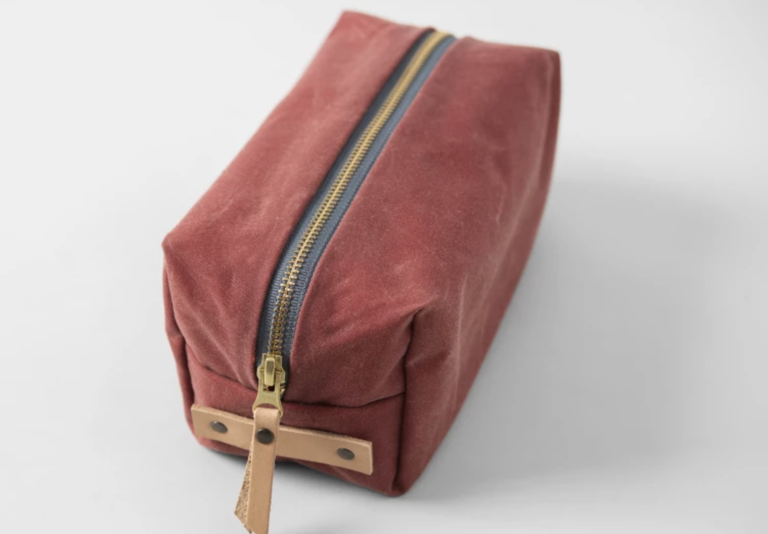 waxed canvas dopp bag