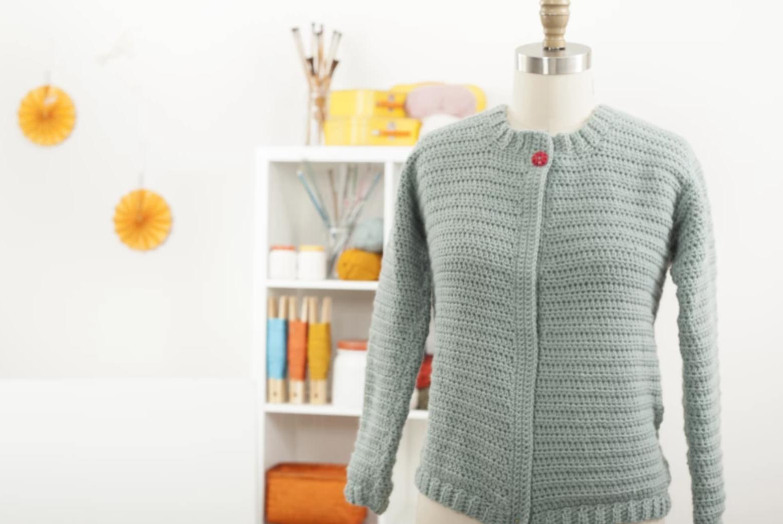classic crochet cardigan