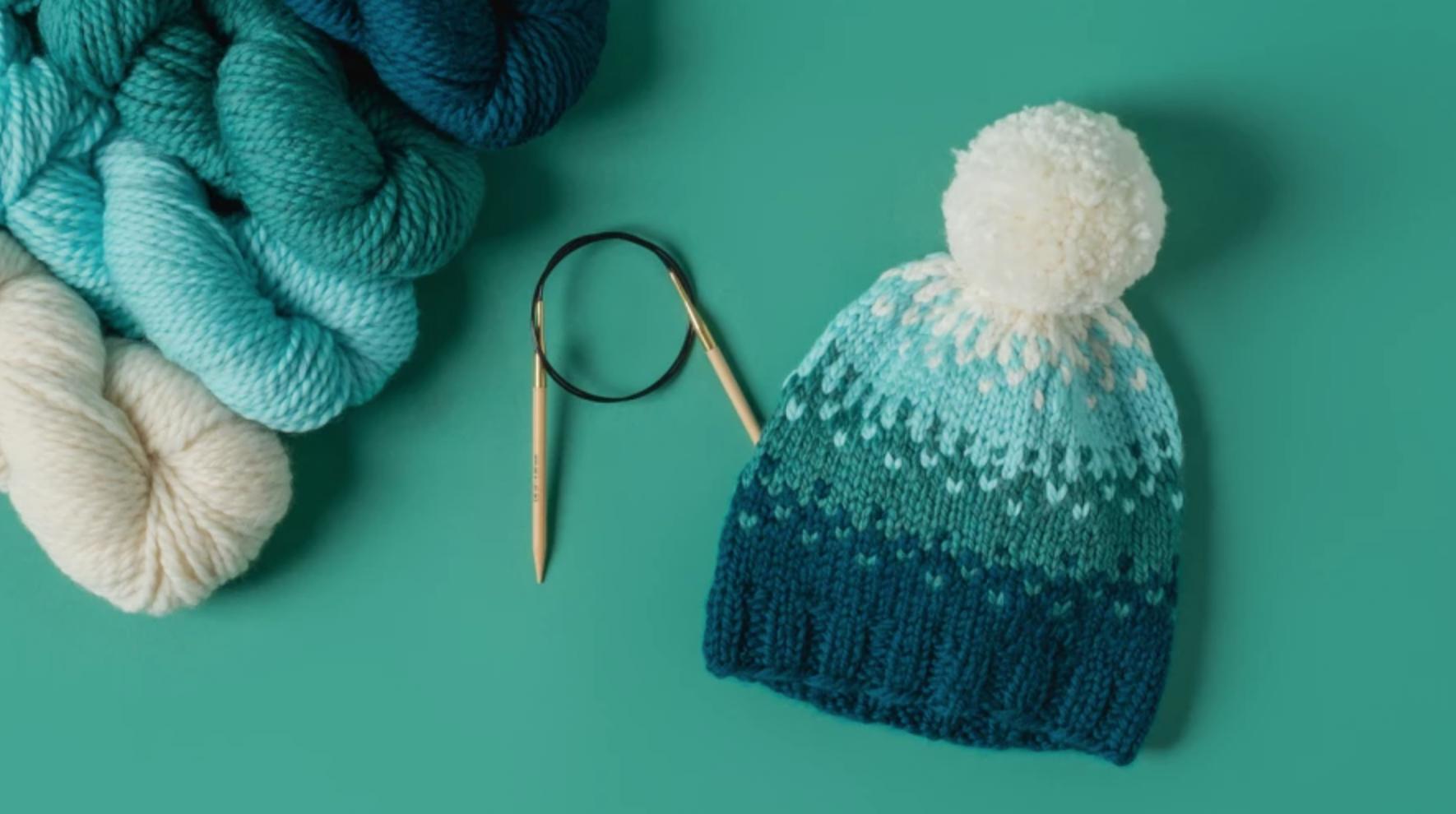 slip stitch ombre hat