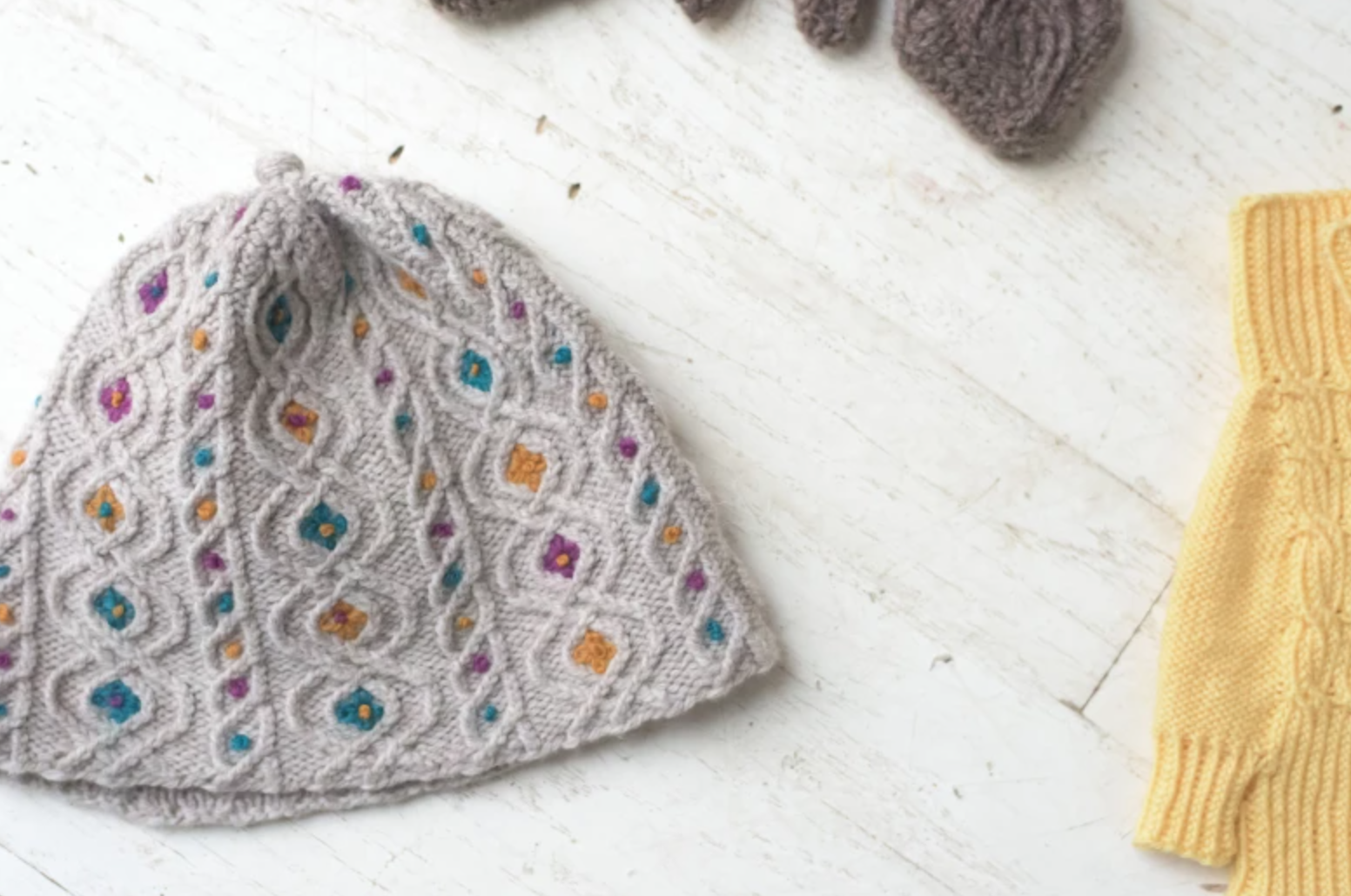 Bavarian Twisted Stitches knit hat