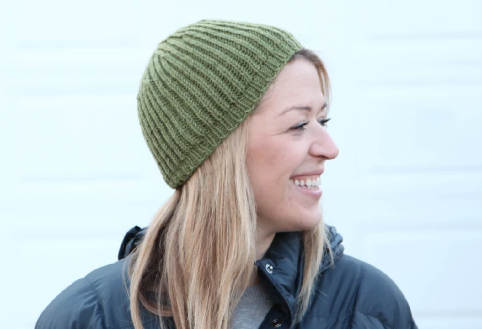 brioche knit hat