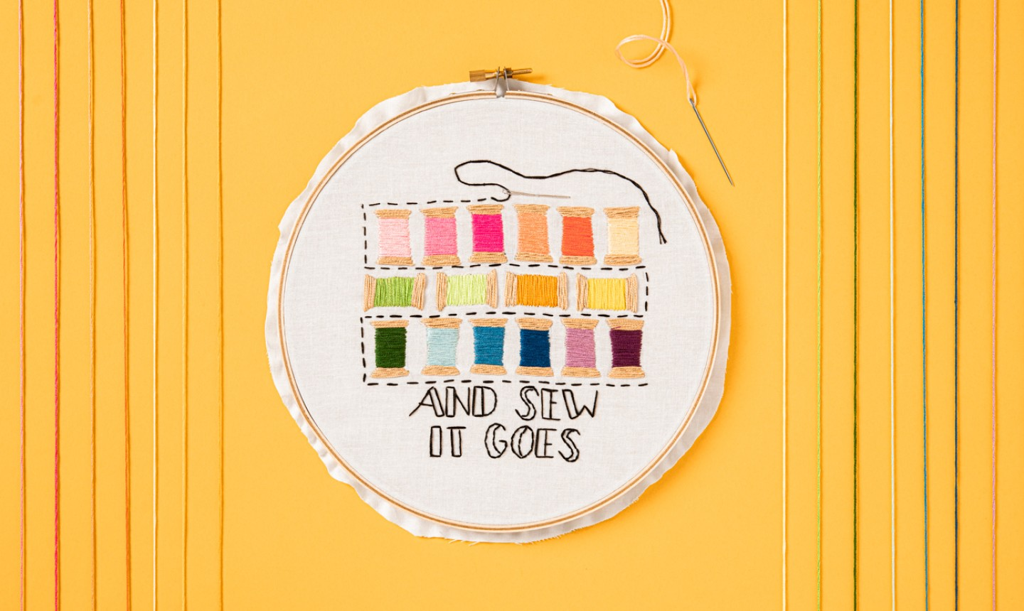 sewing themed embroidery hoop