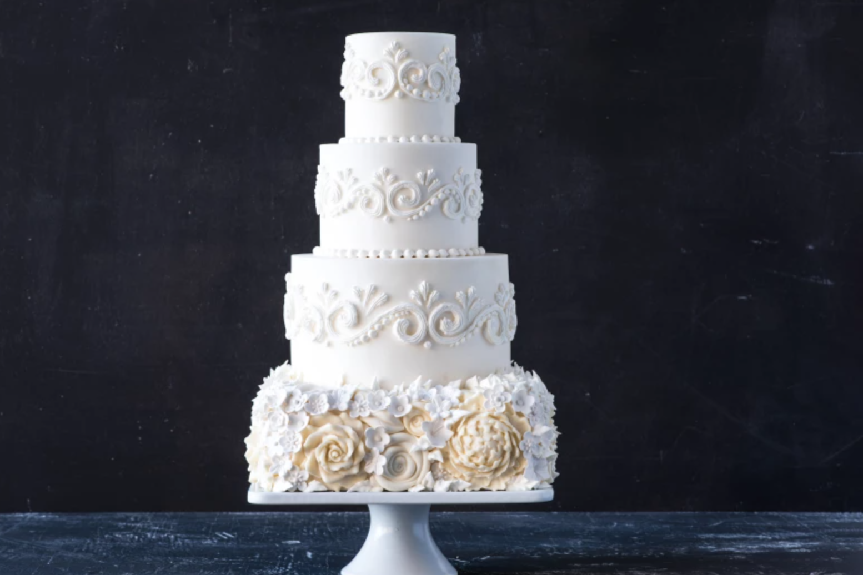 floral white cake