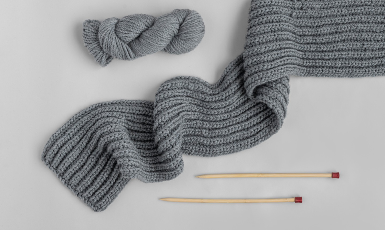 brioche knit scarf