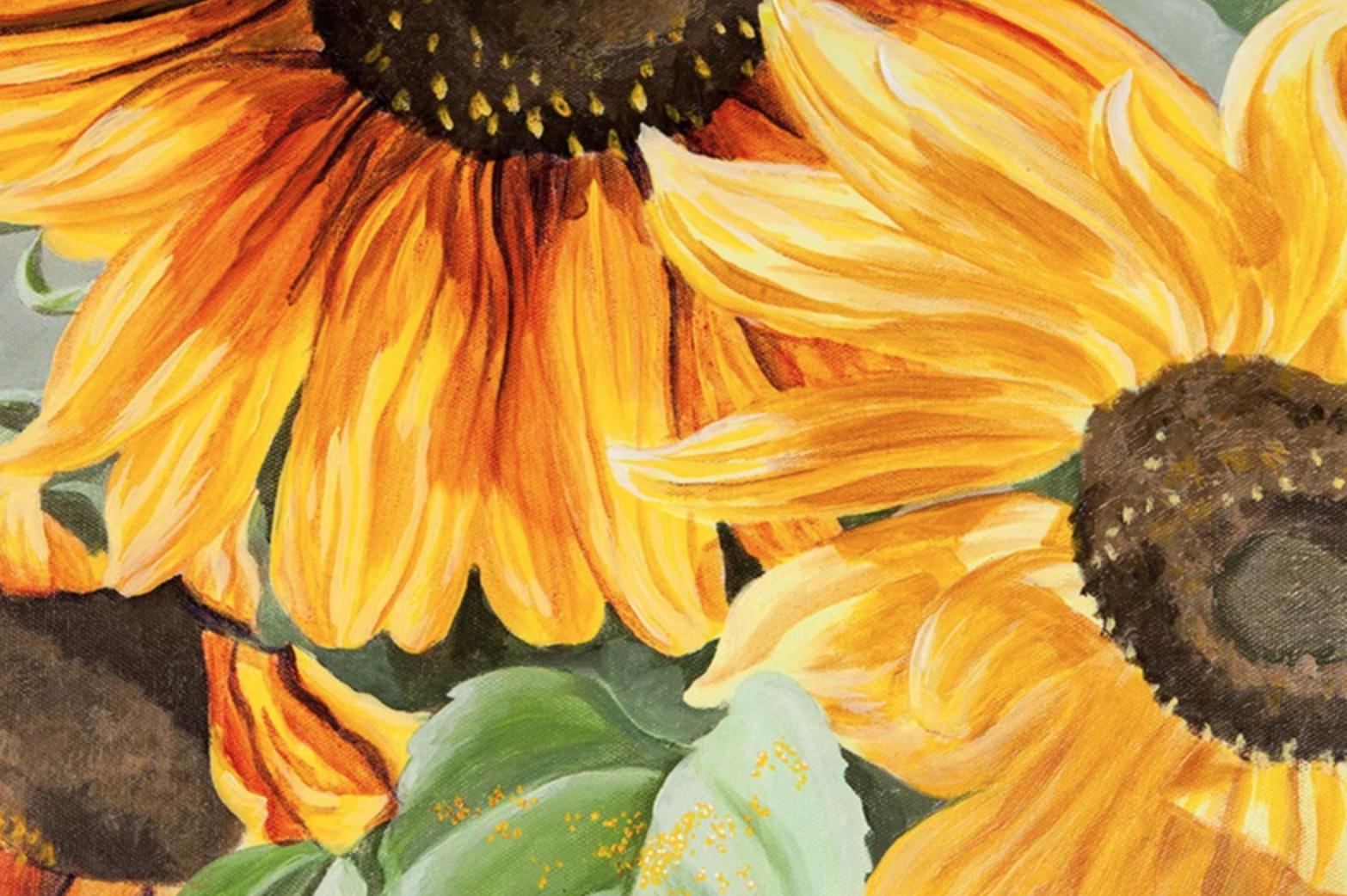 acrylic sunflower painting