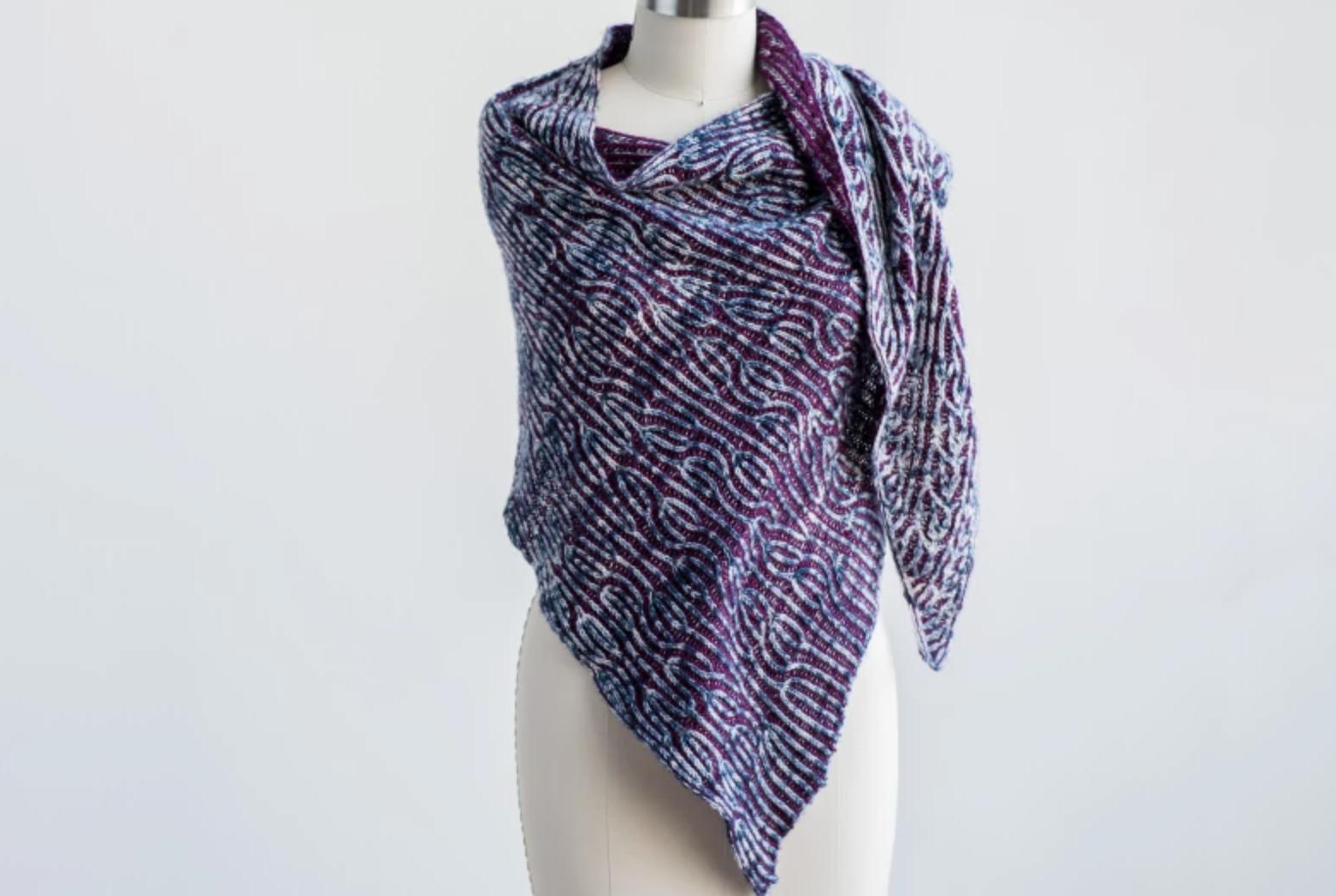 brioche shawl