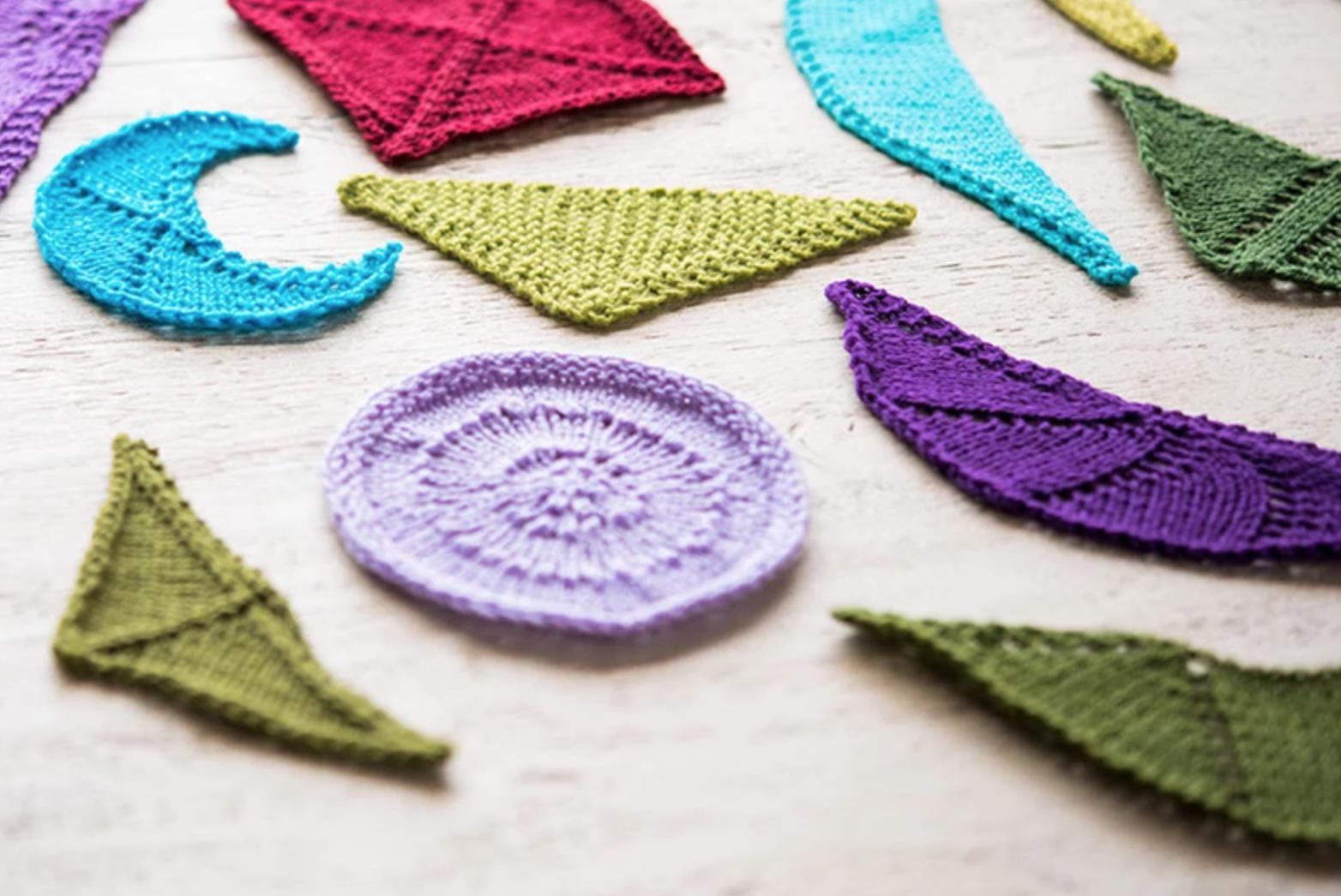 knit shawl shapes