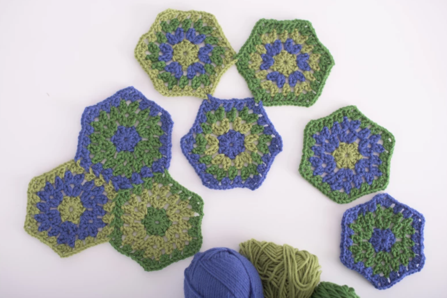 granny stitch hexagons