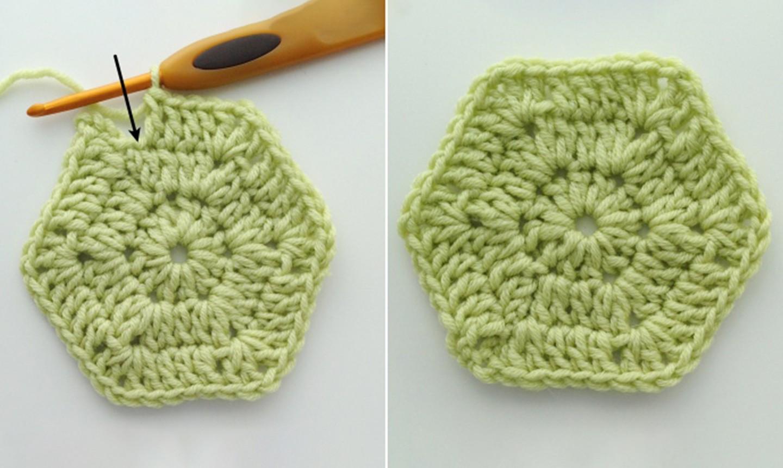 finishing solid crochet hexie