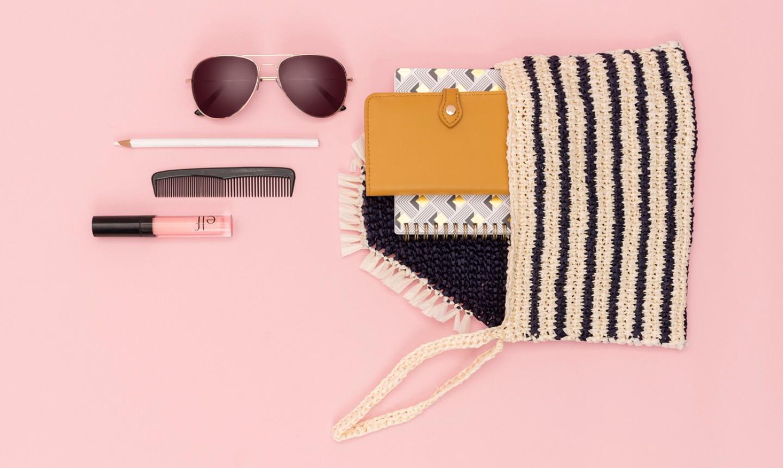 striped tunisian crochet clutch