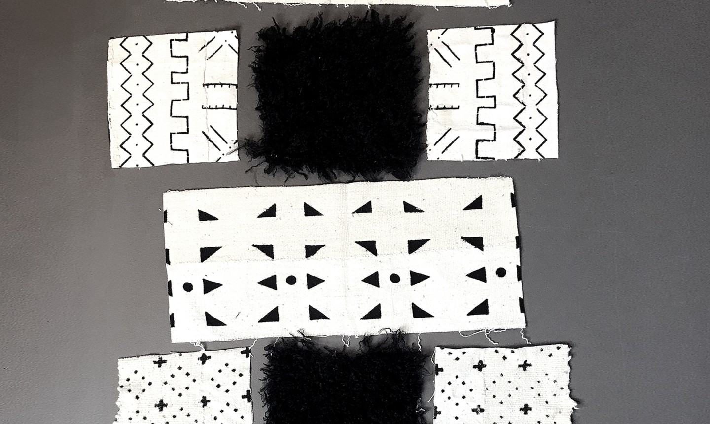 mudcloth fabric cut out