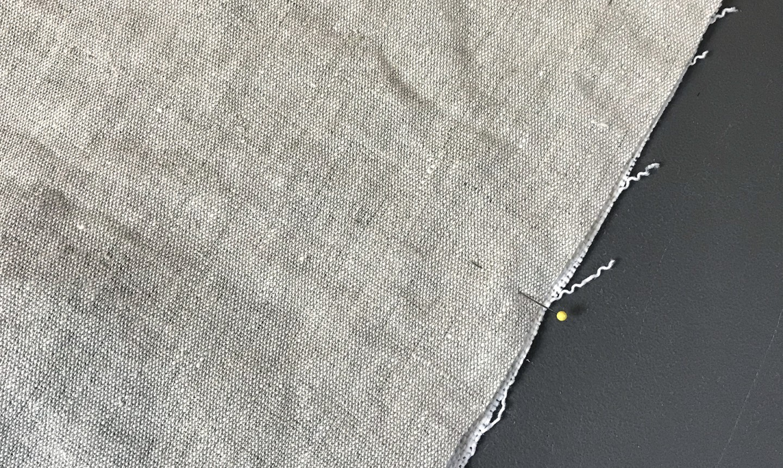 pinning mudcloth backing fabric