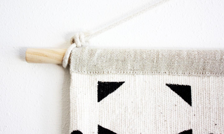 hanging mudcloth