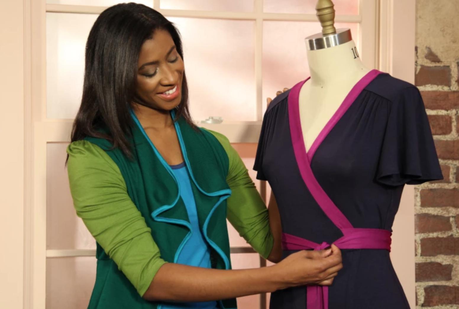 sewing wrap dress