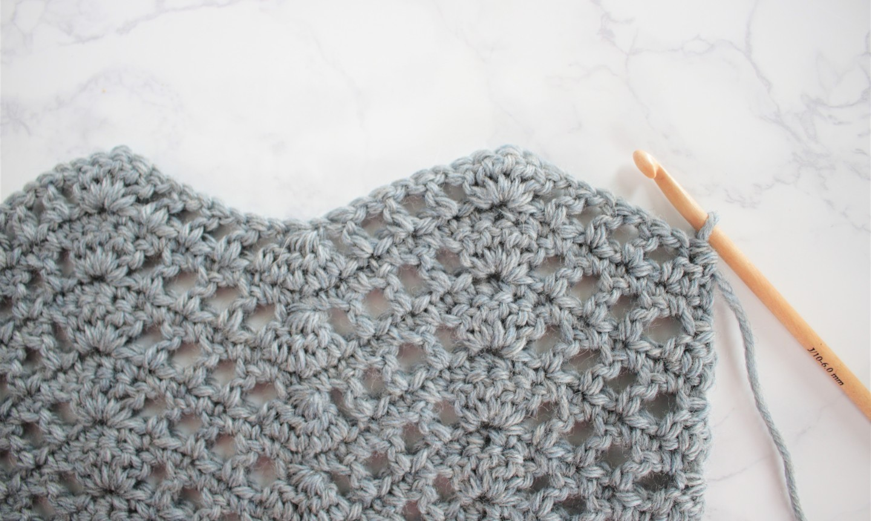 mesh chevron crochet swatch