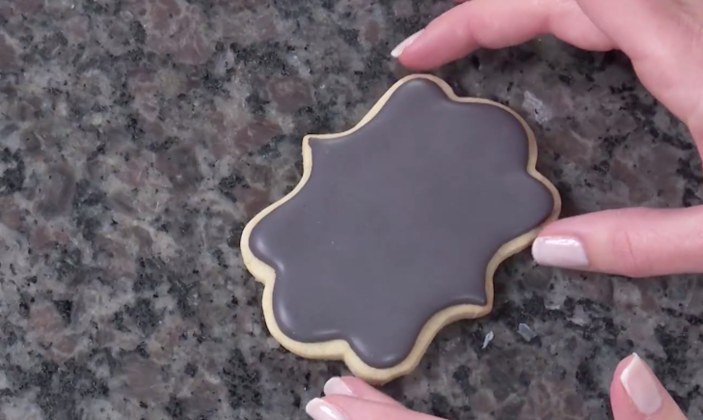flooded chalk board cookie
